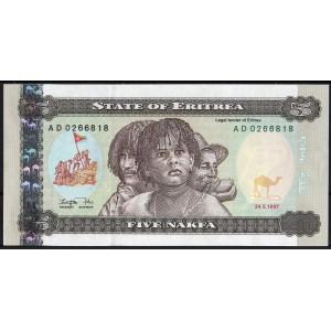 Эритрея 5 накфа 1997 - UNC