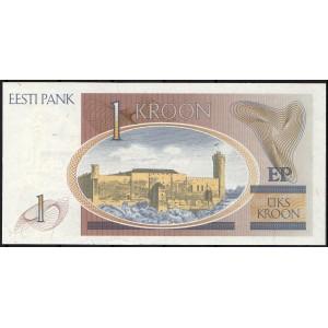 Эстония 1 крона 1992 - UNC
