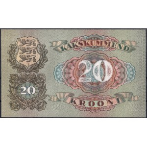 Эстония 20 крон 1932 - UNC