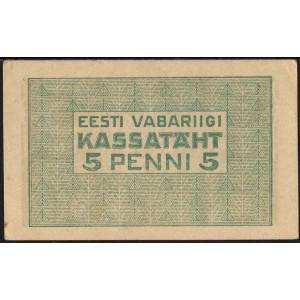 Эстония 5 пенни 1919 - AUNC