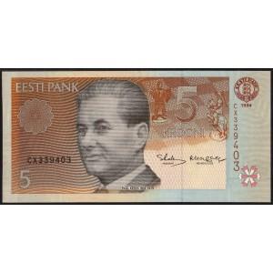 Эстония 5 крон 1994 - UNC