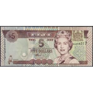 Фиджи 5 долларов 2002 - UNC