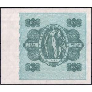 Финляндия 100 марок 1945 - UNC