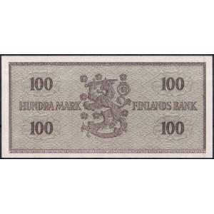 Финляндия 100 марок 1955 - UNC