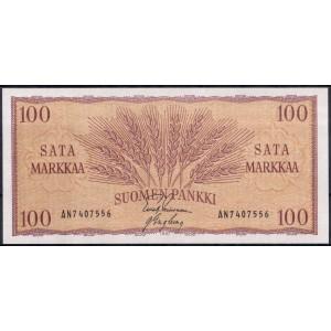 Финляндия 100 марок 1957 - UNC
