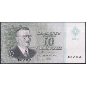 Финляндия 10 марок 1963 - UNC