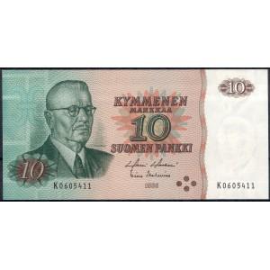 Финляндия 10 марок 1980 - UNC