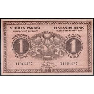 Финляндия 1 марка 1918 - UNC