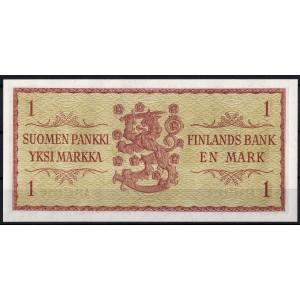 Финляндия 1 марка 1963 - UNC