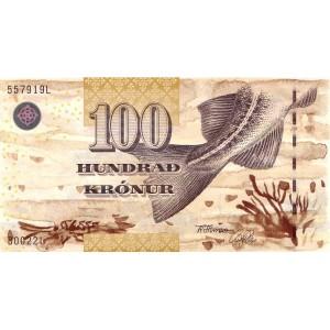Фарерские острова 100 крон 2002 - UNC