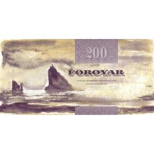 Фарерские острова 200 крон 2003 - UNC