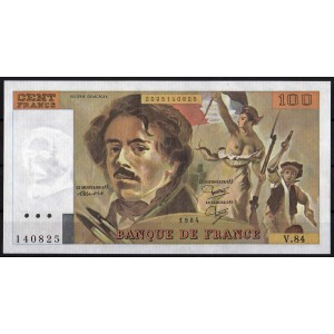 Франция 100 франков 1984 - AUNC