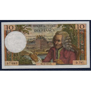 Франция 10 франков 1972 - XF+