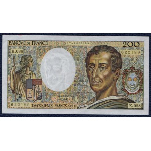 Франция 200 франков 1991 - AUNC
