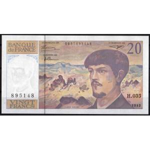 Франция 20 франков 1992 - UNC
