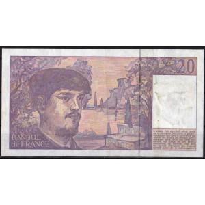 Франция 20 франков 1990 - VF+