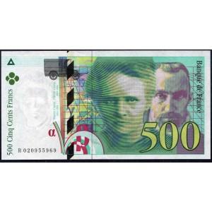 Франция 500 франков 1994 - UNC