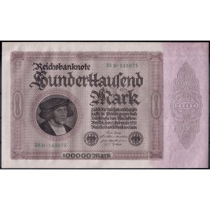 Германия 100000 марок 1923 -  UNC