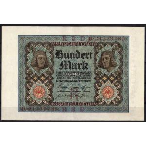 Германия 100 марок 1920 - AUNC