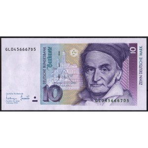 Германия 10 марок 1993 - UNC