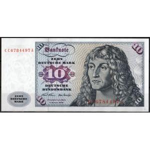 Германия 10 марок 1970 - UNC