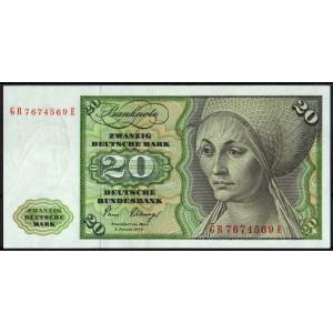 Германия 20 марок 1980 - UNC