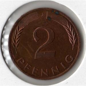 Германия 2 пфеннига 1988 - XF