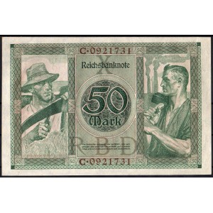 Германия 50 марок 1920 - XF+
