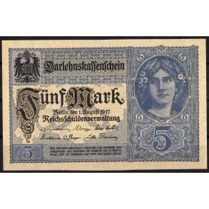 Германия 5 марок 1917 - UNC