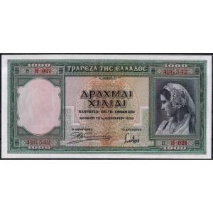 Греция 1000 драхм 1939 - UNC