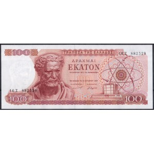 Греция 100 драхм 1967 - UNC