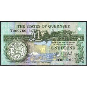 Гернси 1 фунт 1991 - UNC