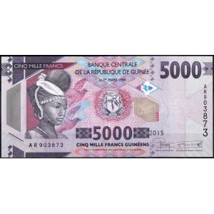Гвинея 5000 франков 2015 - UNC