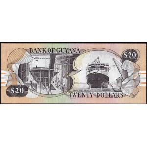 Гайана 20 долларов 1996 - UNC