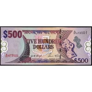 Гайана 500 долларов 2000 - UNC
