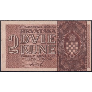 Хорватия 2 куны 1942 - AUNC