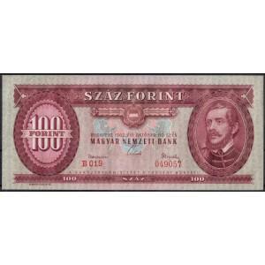 Венгрия 100 форинтов 1962 - UNC