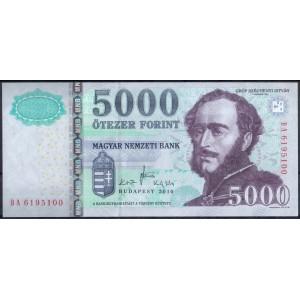 Венгрия 5000 форинтов 2010 - UNC