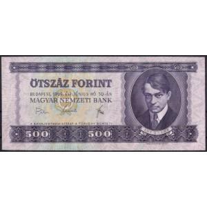 Венгрия 500 форинтов 1969 - UNC