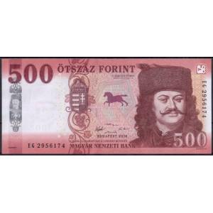 Венгрия 500 форинтов 2018 - UNC