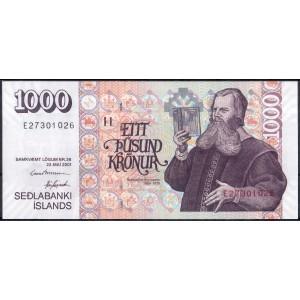 Исландия 1000 крон 2001 - UNC