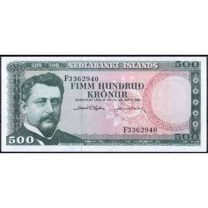 Исландия 500 крон 1961 - UNC