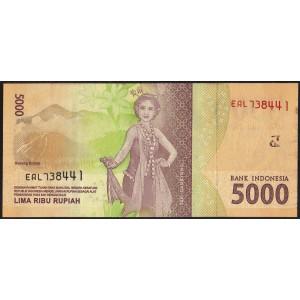 Индонезия 5000 рупий 2016 - UNC