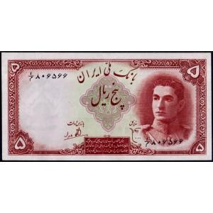 Иран 5 риалов 1944 - UNC