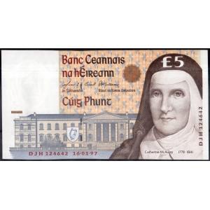 Ирландия 5 фунтов 1994 - UNC