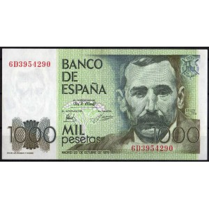 Испания 1000 песет 1979 - UNC