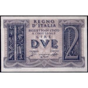 Италия 2 лиры 1939 - UNC