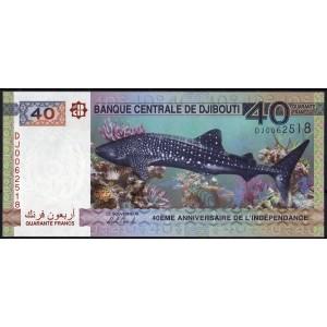 Джибути 40 франков 2017 - UNC