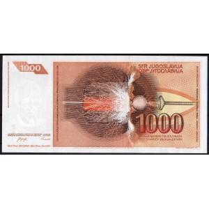 Югославия 1000 динар 1990 - UNC