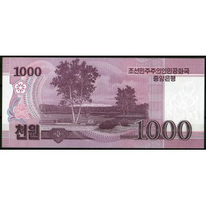 КНДР 1000 вон 2008 (100) - UNC